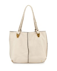 Elliott Lucca Mathilde Chain Leather Tote Bag White