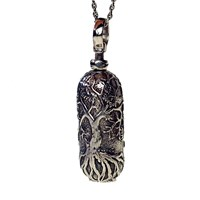 House Of Alaia Tree Of Life Locket Oxidized Sterling Silver