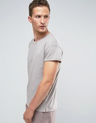 Selected Homme T Shirt With Nep Grey