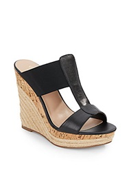 Charles By Charles David Alto Leather And Elastic Espadrille Wedge Sandals