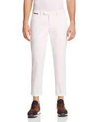 Eleventy Flat Front Slim Fit Stretch Chinos Cream