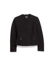 Mango Textured Jacket Black