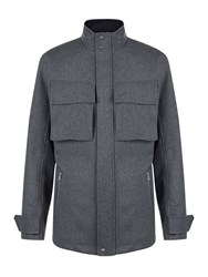 Victorinox Men's Highlander Vii Wool Field Jacket Charcoal