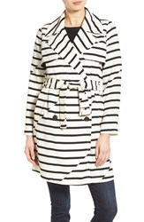 Women's Madewell 'Parcel' Stripe Trench Coat