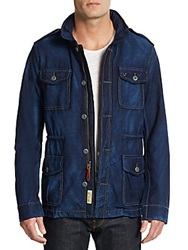 True Religion Denim Field Jacket And Vest Blue