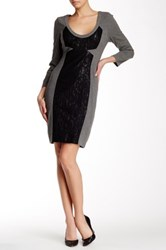 Tracy Reese Scoop Neck Long Sleeve Sheath Dress Multi