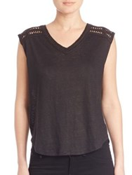 Generation Love Renee Crochet Bank Tank Black