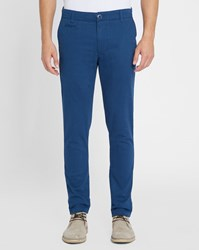 Knowledge Cotton Apparel Petrol Blue Pistol Pr Chinos