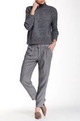 Level 99 Cassie Cropped Trouser Gray