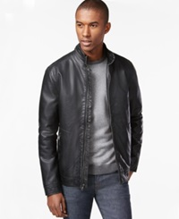 Inc International Concepts Faux Leather Moto Jacket Only At Macy's Black