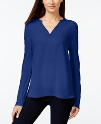 Inc International Concepts Split Neck Long Sleeve Blouse Only At Macy's