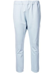Bassike Stretch Pocket Detail Trousers Blue