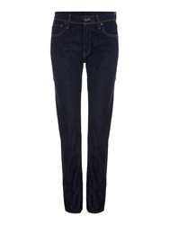 Levi's High Rise Straight Leg Jean In Elvis Denim Dark Wash