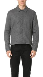 Todd Snyder Knit Deck Jacket Dark Grey Navy