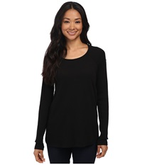 Allen Allen Long Sleeve Raglan Swing Tunic Black Women's Long Sleeve Pullover