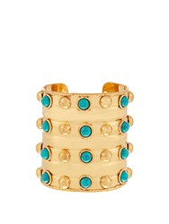 Sylvia Toledano Massai Large Gold Plated Cuff Gold Multi