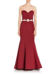 Jovani Strapless Mermaid Gown Wine