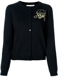 Moschino Skeleton Intarsia Cardigan Black