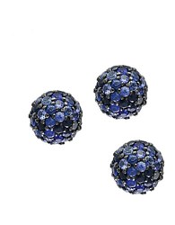 Effy Sapphire And Sterling Silver Ball Stud Earrings Blue