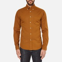 Gant Rugger Men's Dreamy Oxford Garment Dyed Shirt Toffee