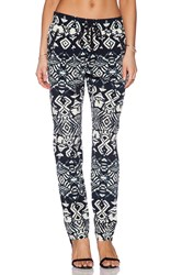 Gypsy 05 Silk Drawstring Trouser Black
