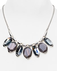 Robert Lee Morris Soho Multi Faceted Statement Necklace 17 Gray