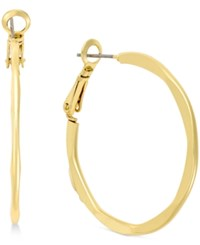 Charter Club Gold Tone Squared Hoop Earrings Only At Macy's
