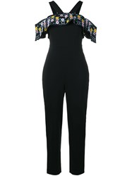Peter Pilotto Embroidered Detail Jumpsuit Black