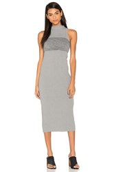 By Johnny Slice Panel Knit Dress Gray