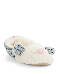 Kensie Faux Fur Mouse Slippers Mint