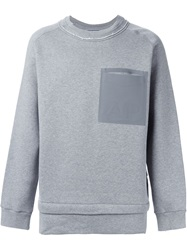 Andrea Pompilio Front Pocket Sweater Grey