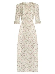 The Vampire's Wife Cate Cotton Midi Dress White Print