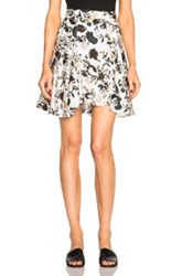 A.L.C. Brien Skirt In White Floral White Floral