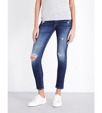 Rag And Bone Faded Skinny Mid Rise Jeans Canyon