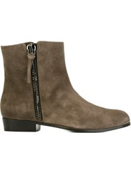 Giuseppe Zanotti Design Side Zip Ankle Boots Grey