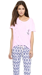 Sundry Holes Anchor Pocket Loose Tee Pop Pink
