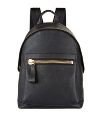 Tom Ford Buckley Grained Leather Backpack Unisex Black