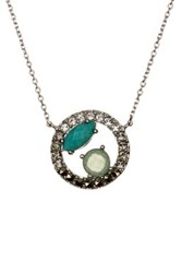 Judith Jack Sterling Silver Opal And Turquoise Pendant Necklace Blue
