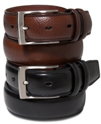 Perry Ellis Big And Tall Leather Belt Chocolate