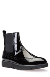 Geox Women's 'Blenda' Platform Chelsea Boot Black Patent Leather