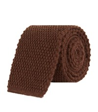 Tom Ford Knitted Cashmere Tie Unisex Brown