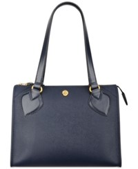 Anne Klein Babe Medium Zip Satchel Navy
