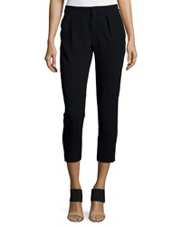 Haute Hippie Pleated Front Skinny Leg Pants Black