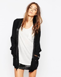 Gestuz Boxy Collarless Jacket Darkgreymelange