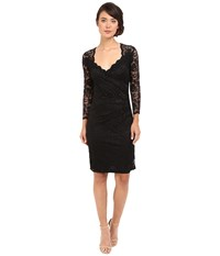 Rsvp Short Margaux Lace 3 4 Sleeve Dress Black Women's Dress