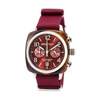 Briston Classic Chronograph Date Red Sunray Dial Multi