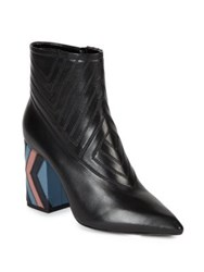 Lanvin Quilted Leather Booties Black