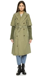 Nlst Trench Coat With Liner Olive