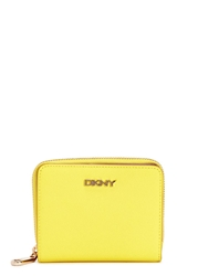 Dkny Bryant Park Small Yellow Leather Wallet