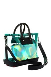 Hunter Original Clear Midi Tote Green